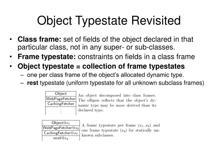 Object Typestate Revisited