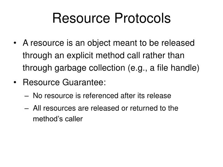 Resource Protocols