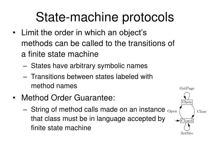 State-machine protocols