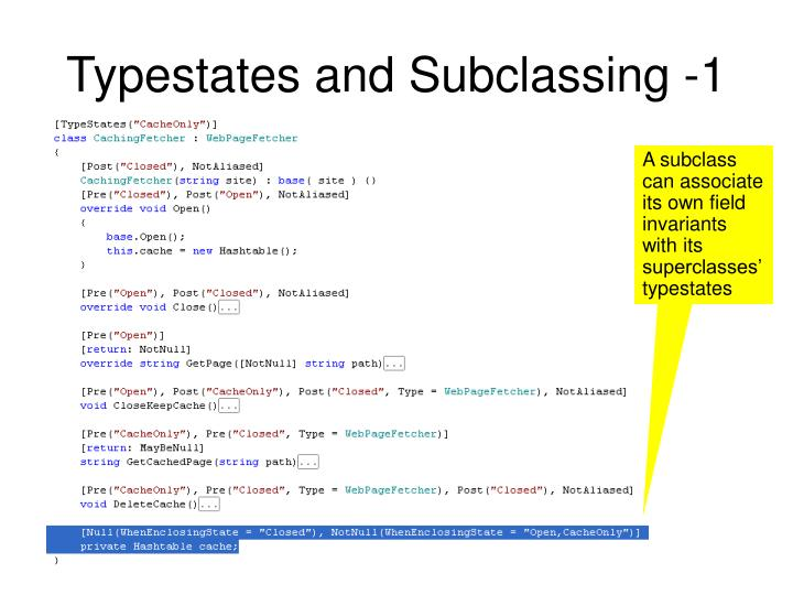 Typestates and Subclassing -1