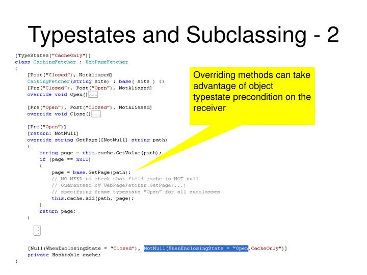 Typestates and Subclassing - 2