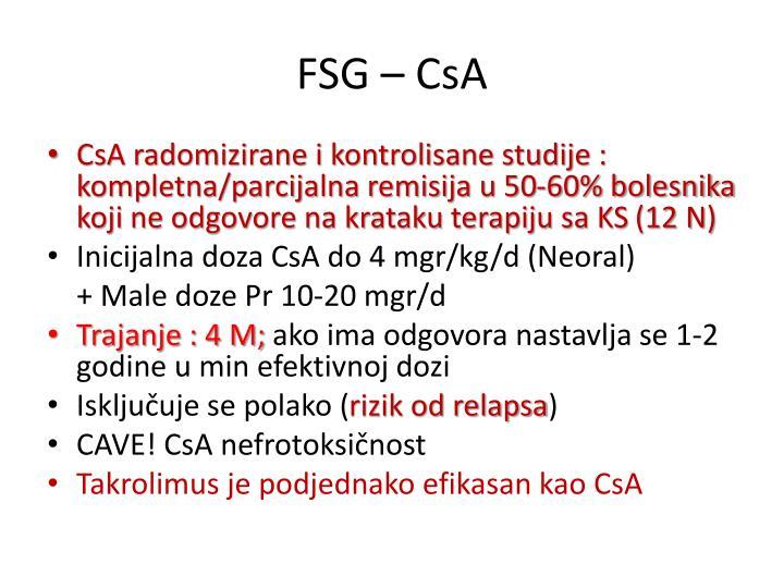 FSG – CsA