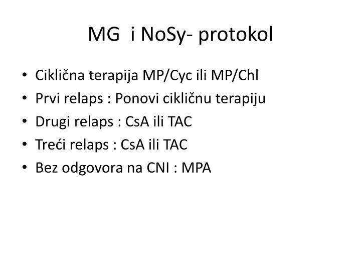 MG  i NoSy- protokol