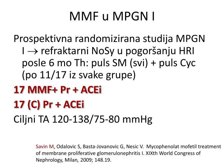 MMF u MPGN I