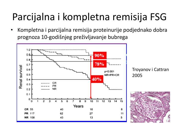 Parcijalna i kompletna remisija FSG