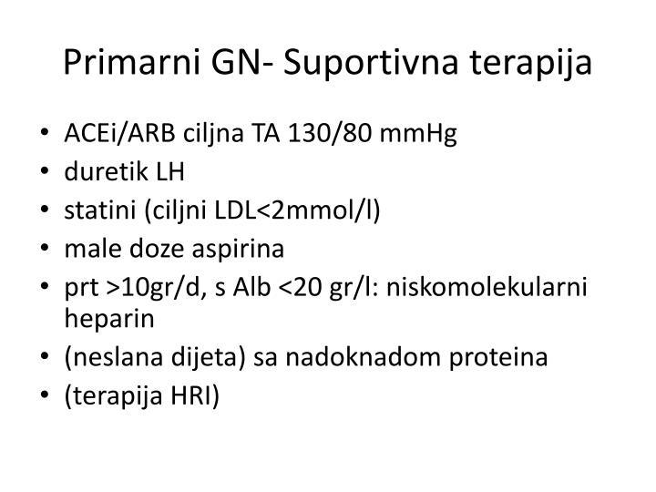 Primarni GN- Suportivna terapija
