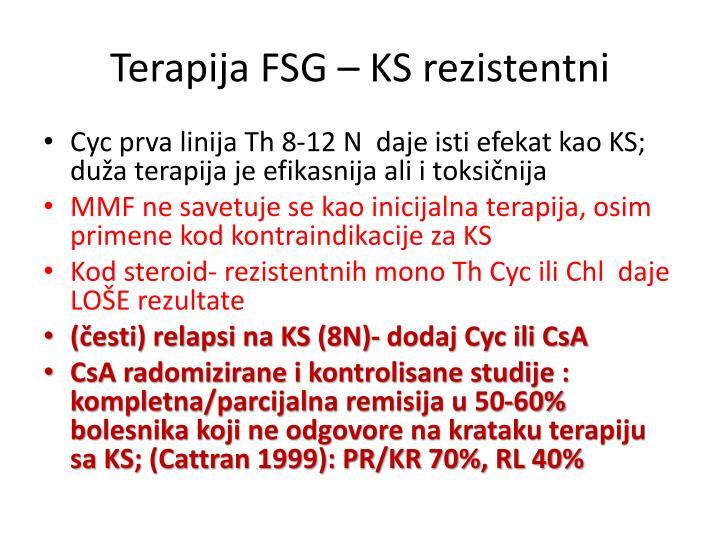 Terapija FSG – KS rezistentni