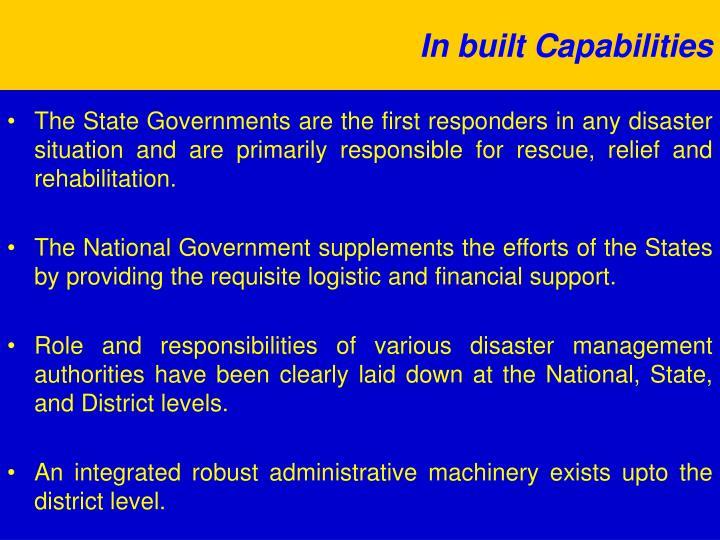 In built Capabilities