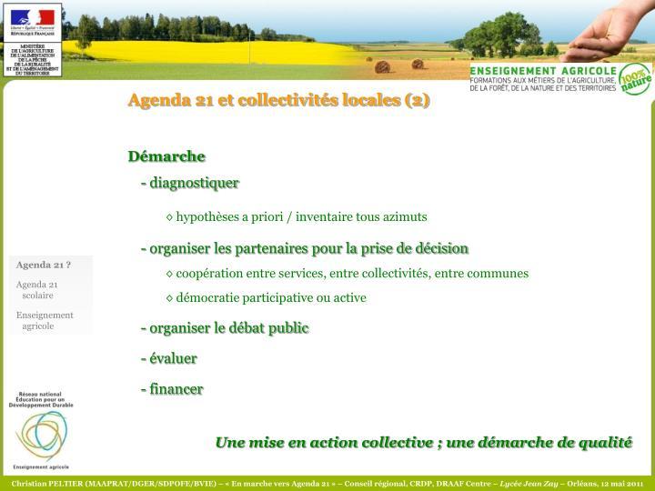 Agenda 21 et collectivités locales (2)