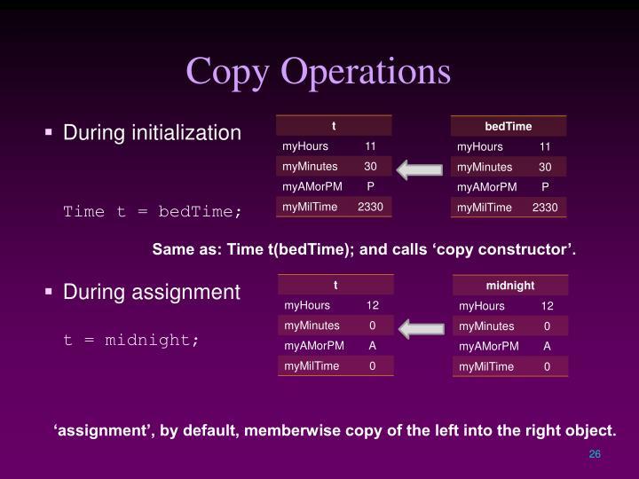 Copy Operations
