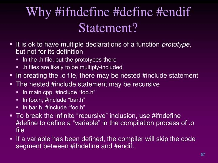 Why #ifndefine #define #endif Statement?
