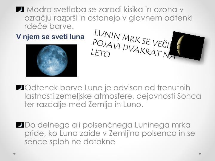 V njem se sveti luna
