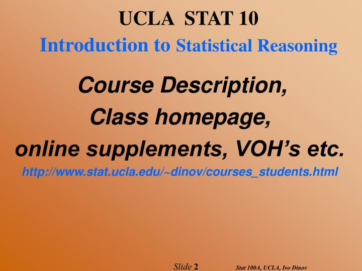 UCLA  STAT 10
