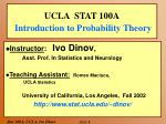 ucla stat 100a introduction to probability theory