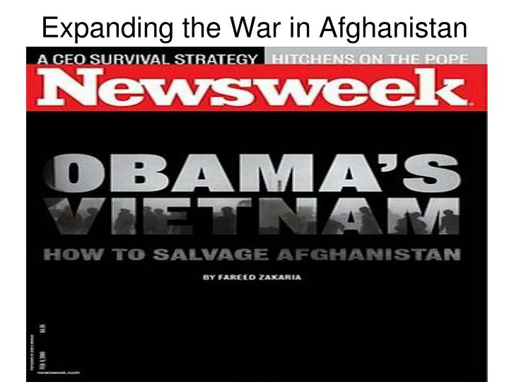 Expanding the War in Afghanistan