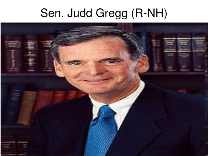 Sen. Judd Gregg (R-NH)