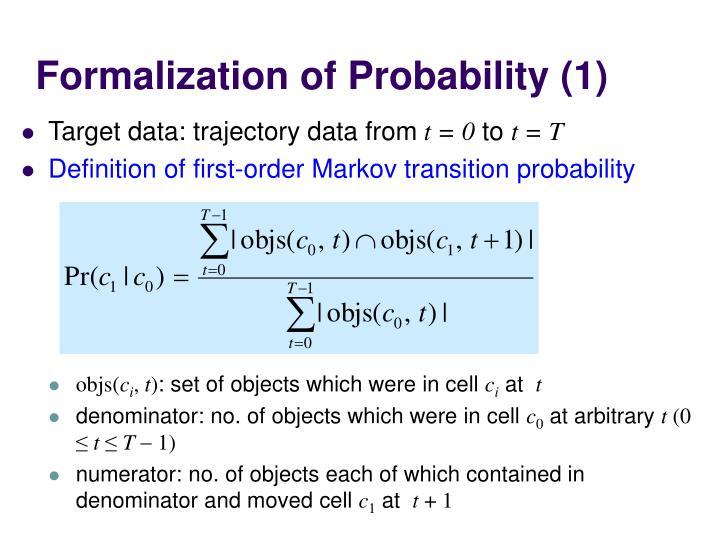 Formalization of Probability (1)