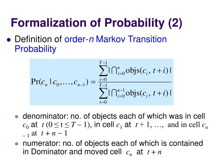 Formalization of Probability (2)