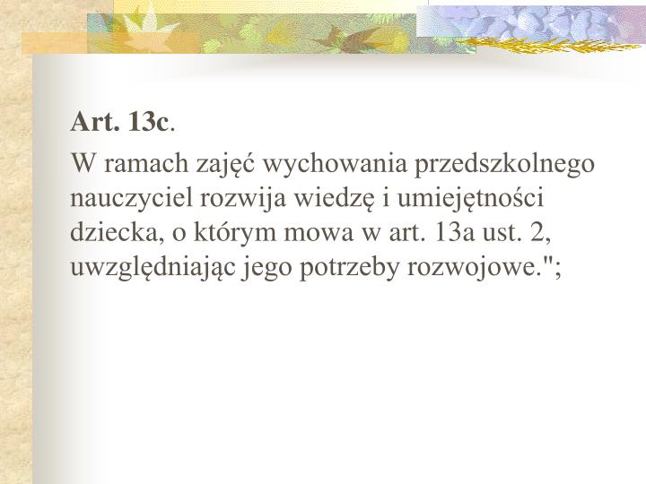 Art. 13c