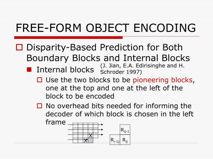 FREE-FORM OBJECT ENCODING