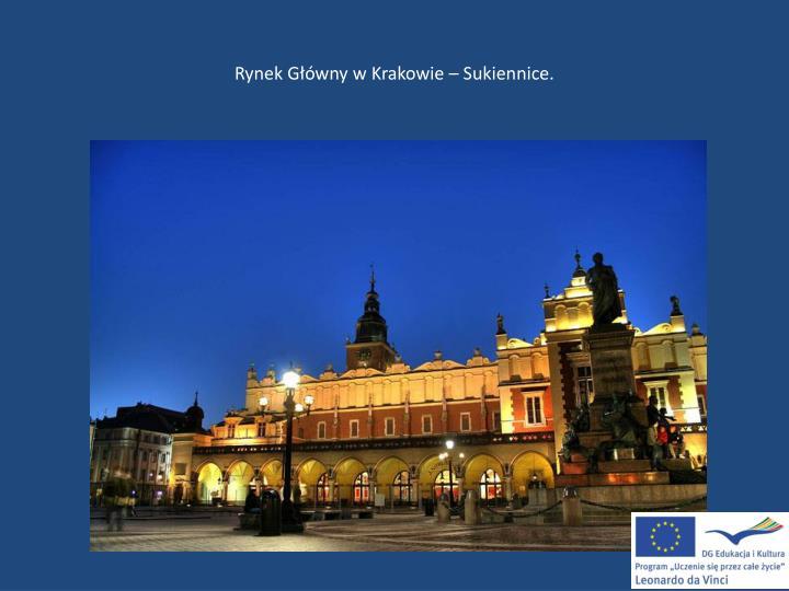 Rynek Główny w Krakowie – Sukiennice.