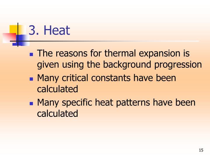 3. Heat