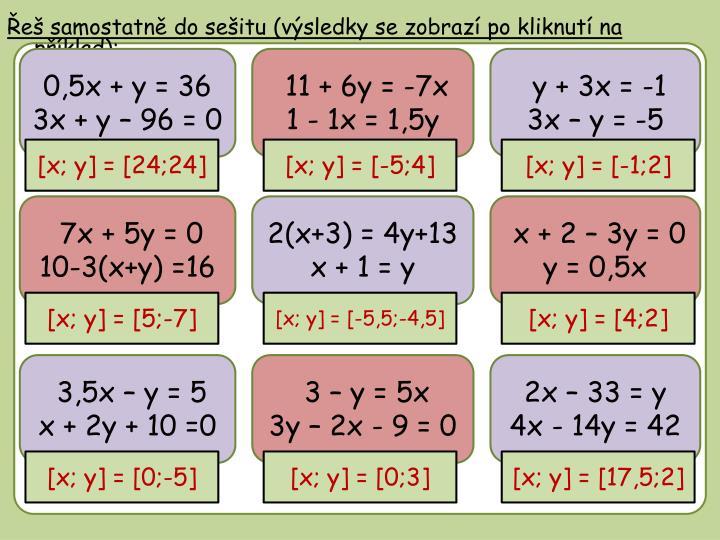 0,5x + y = 36