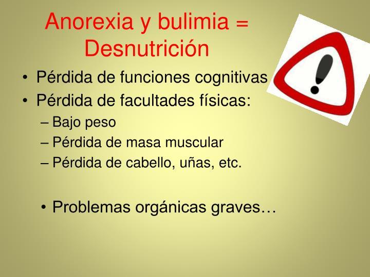 Anorexia y bulimia =