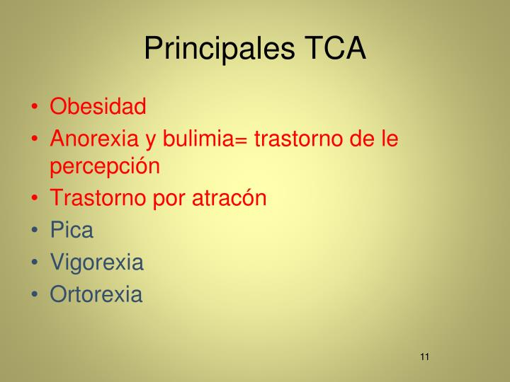 Principales TCA