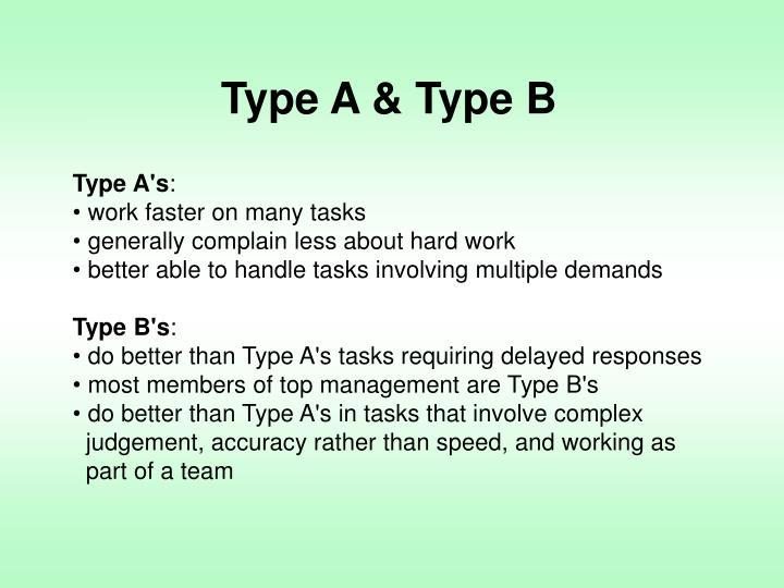 Type A & Type B
