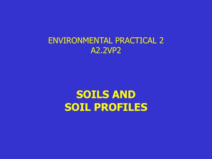 environmental practical 2 a2 2vp2
