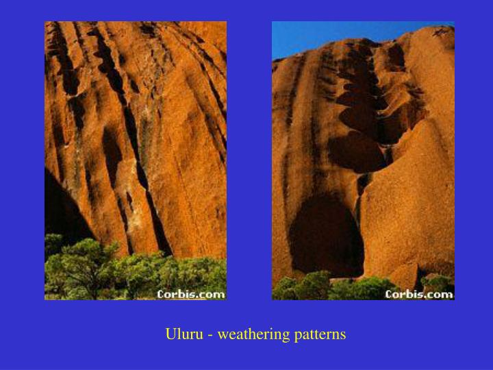 Uluru - weathering patterns