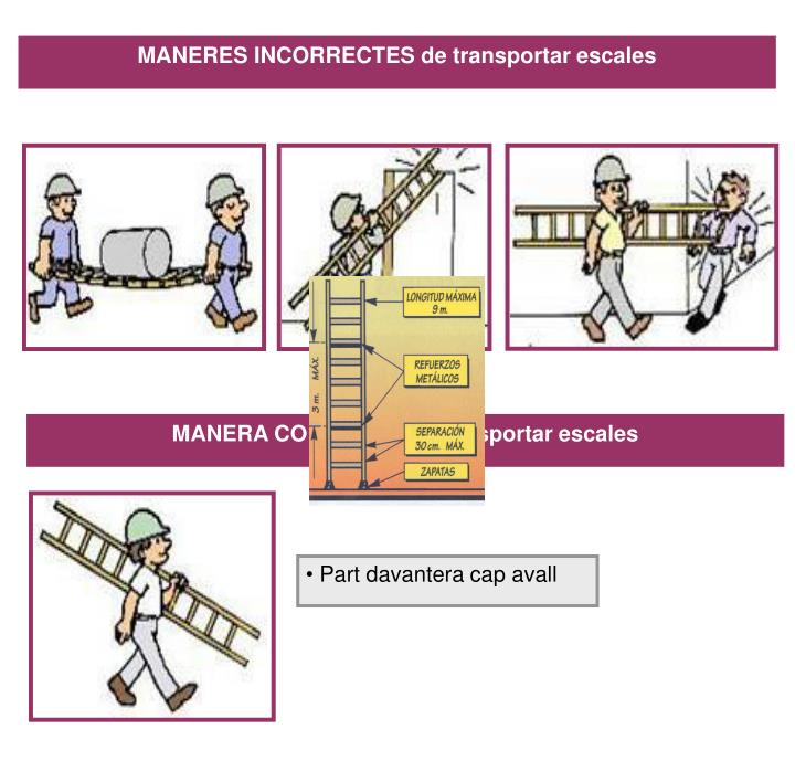 MANERES INCORRECTES de transportar escales