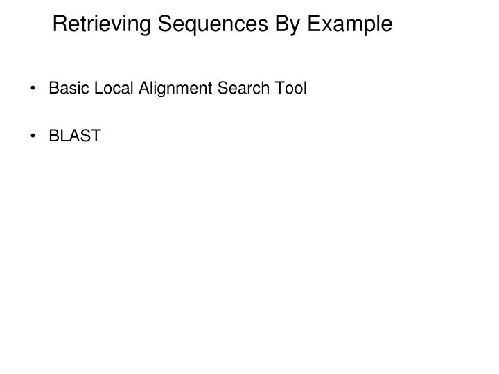 Retrieving Sequences By Example