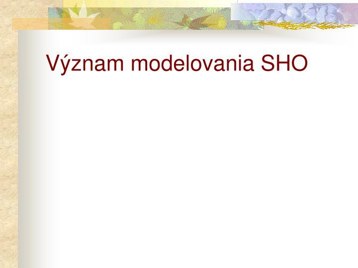 Význam modelovania SHO