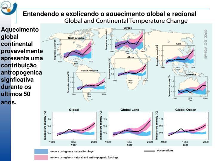 Entendendo e explicando o aquecimento global e regional