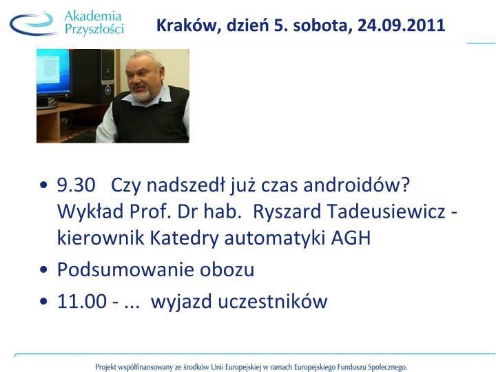 Kraków, dzień 5. sobota, 24.09.2011