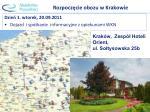 rozpocz cie obozu w krakowie