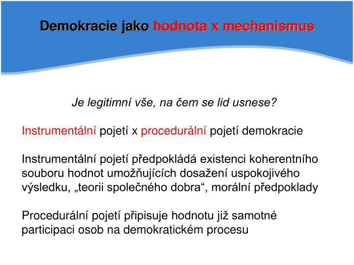 Demokracie jako