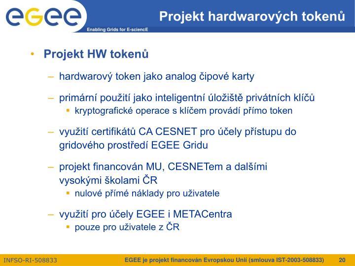 Projekt hardwarových tokenů
