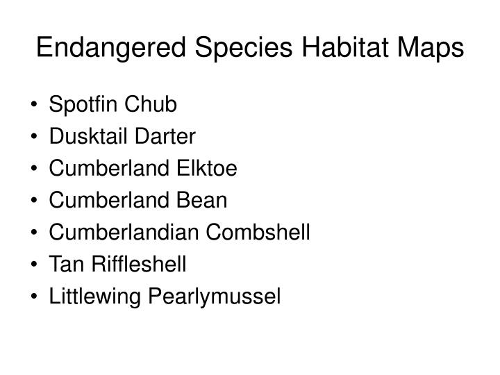 Endangered Species Habitat Maps
