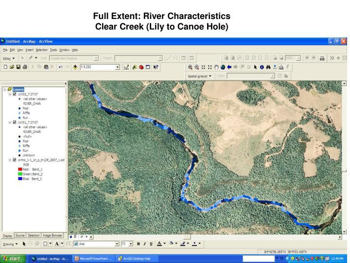 Full Extent: River Characteristics