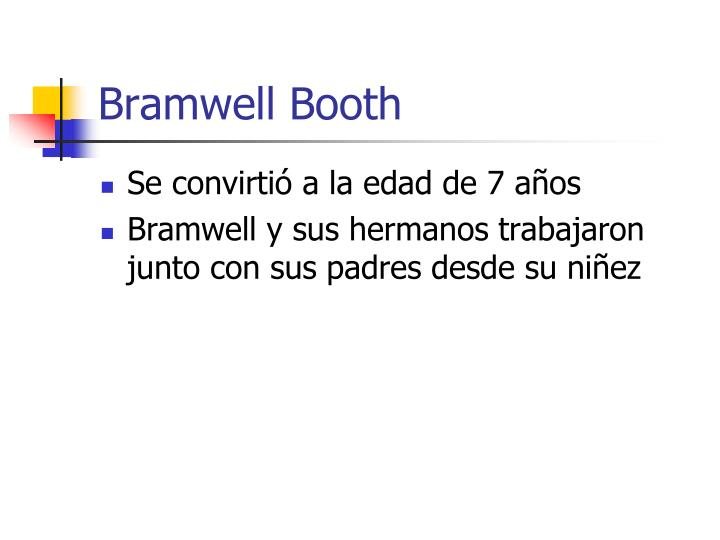 Bramwell booth