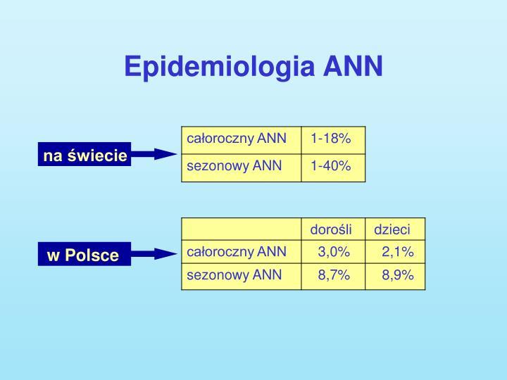 Epidemiologia ANN