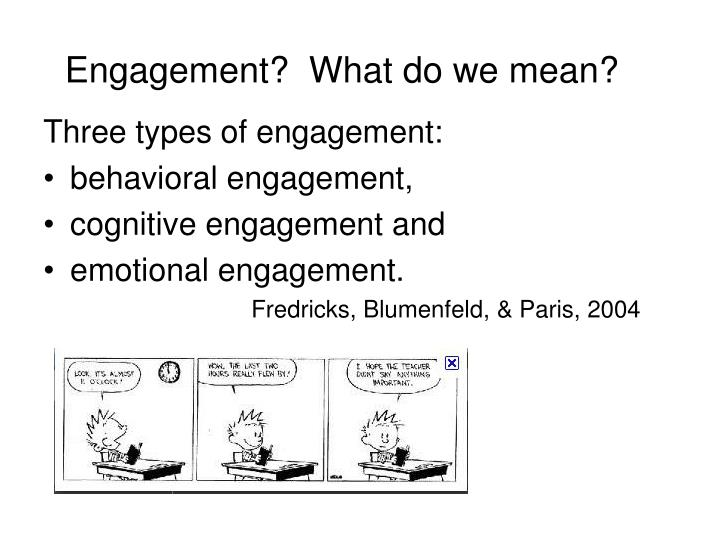 Engagement?  What do we mean?