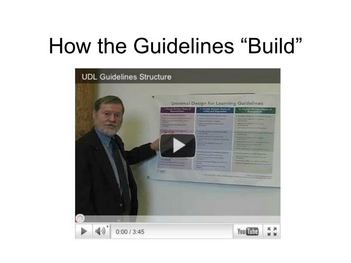 "How the Guidelines ""Build"""