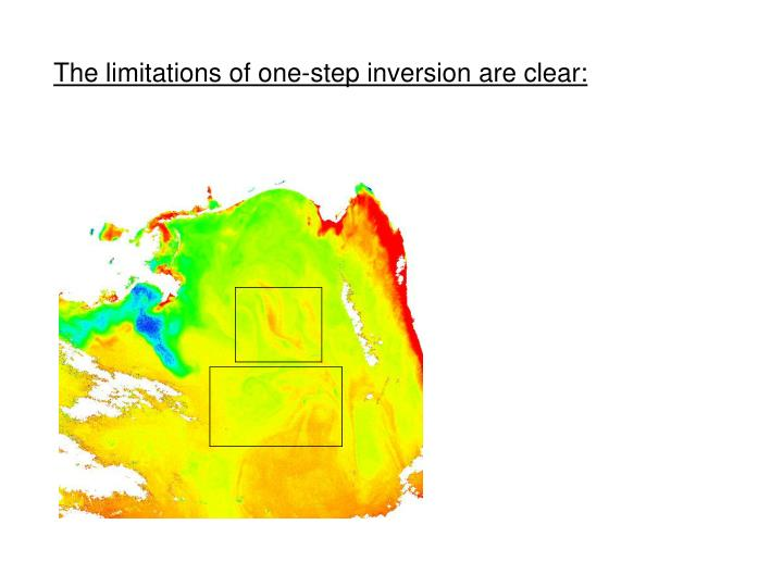 The limitations of one-step inversion are clear: