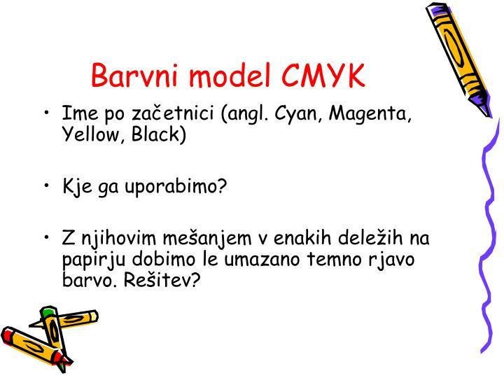 Barvni model CMYK