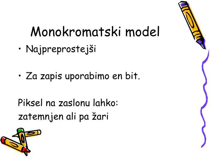 Monokromatski model