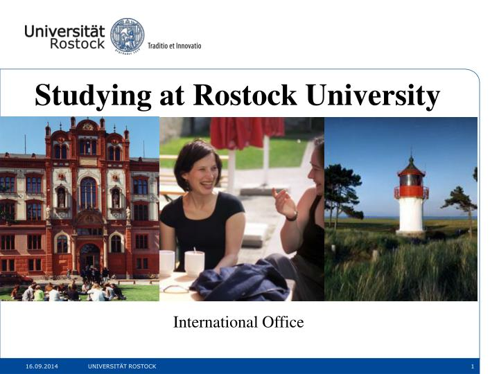 Studying at Rostock University
